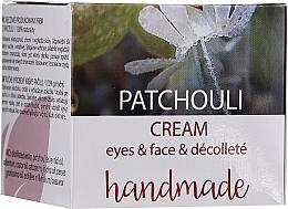 Парфюмерия и Козметика Крем за лице и деколте с пачули - Hristina Cosmetics Handmade Patchouli Eyes & Face & Decollete Cream