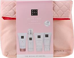 Парфюмерия и Козметика Комплект - The Ritual of Sakura Renewing Treat (b/cr/70ml + sh/g/50ml + shampoo/70ml + b/scrub/70ml + bag)