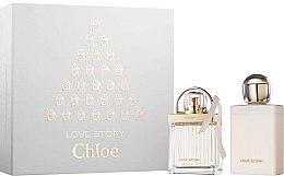 Парфюми, Парфюмерия, козметика Chloe Love Story - Комплект (edp/50ml + b/lot/100ml)