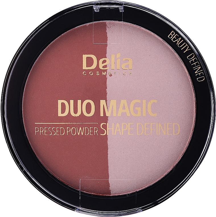 Компактна пресована пудра за лице - Delia Duo Magic Shape Defined — снимка N1
