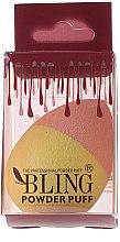 Парфюмерия и Козметика Гъба за грим, розово-жълта - Bling Powder Puff