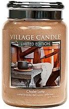 Парфюми, Парфюмерия, козметика Ароматна свещ в бурканче - Village Candle Chalet Latte Glass Jar