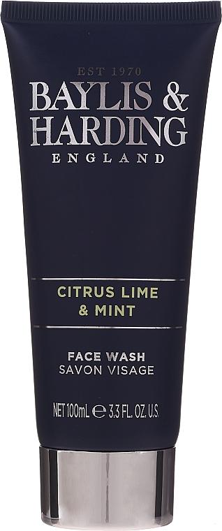 Комплект за мъже - Baylis & Harding Men's Citrus Lime & Mint Bag(hair/body/wash/100ml+face/wash/100ml+a/sh/balm/100ml+acc) — снимка N4