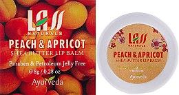 """Парфюми, Парфюмерия, козметика Балсам за устни """"Кайсия и праскова"""" - Lass Naturals Peach & Apricot Shea Butter Lip Balm"""