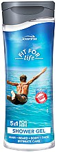 Парфюми, Парфюмерия, козметика Душ гел и шампоан за мъже 5 в 1 - Joanna Fit For Life 5in1 Shower Gel For All Body Odour Stoper For Men