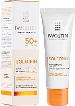 Парфюми, Парфюмерия, козметика Слънцезащитен крем - Iwostin Solecrin Lucidin Protective Cream SPF 50+