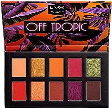Парфюмерия и Козметика Палитра сенки за очи - NYX Professional Off Tropic Shadow Palette