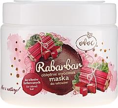 Маска за коса с екстракт от ревен, плодове и масло от шеа - Ovoc Rabarbar Mask — снимка N1