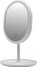 Парфюмерия и Козметика Огледало с LED-светлина 498579, бяло - Inter-Vion LED With Mini USB