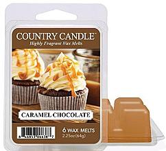 Парфюмерия и Козметика Восък за арома лампа с аромат на карамел и шоколад - Country Candle Caramel Chocolate Wax Melts