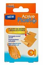 Парфюмерия и Козметика Пластири за мазоли със салицилова киселина - Ntrade Active Plast Special Corn-Cure Plasters For Cutting