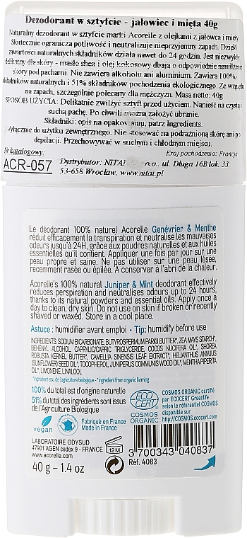 Дезодорант-балсам с аромат на хвойна и мента - Acorelle Deodorant Balm — снимка N2