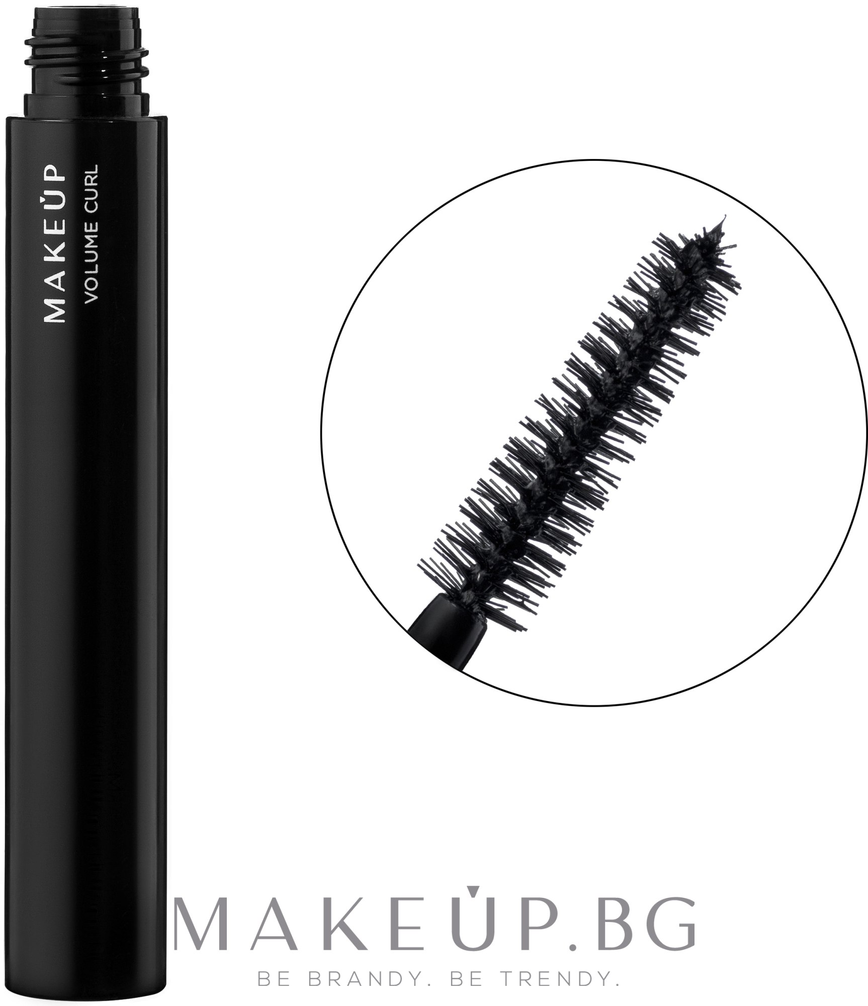 Спирала за обемни мигли - MakeUp Volume Curl — снимка Black