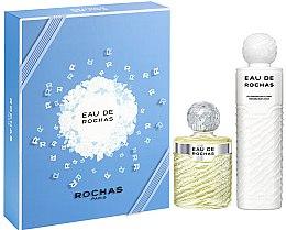 Парфюмерия и Козметика Rochas Eau De Rochas - Комплект (тоал. вода/220ml + лосион за тяло/500ml)