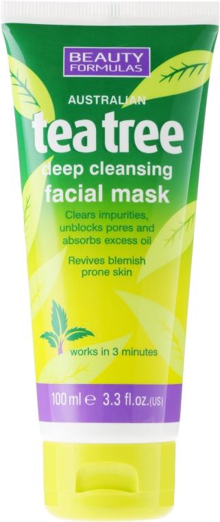 """Маска за дълбоко почистване на лице """"Чаено дърво"""" - Beauty Formulas Tea Tree Deep Cleansing Facial Mask"""