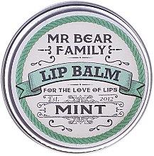 Парфюми, Парфюмерия, козметика Балсам за устни - Mr. Bear Family Lip Balm Mint