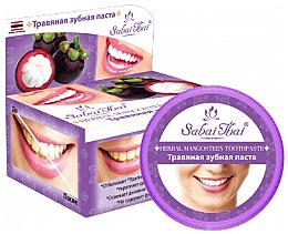 Парфюмерия и Козметика Билкова паста за зъби с мангостин - Sabai Thai Herbal Mangosteen Toothpaste