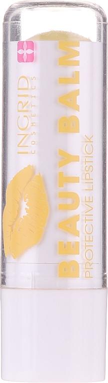Защитно червило-балсам за устни с аромат на екзотични плодове - Ingrid Cosmetics Beauty Balm Protective Lipstick