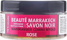 "Парфюми, Парфюмерия, козметика Натурален черен сапун ""Роза"" - Beaute Marrakech Savon Noir Moroccan Black Soap"