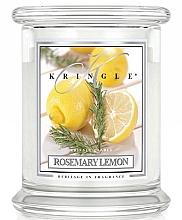 Парфюмерия и Козметика Ароматна свещ в чаша - Kringle Candle Rosemary Lemon
