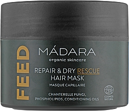 Парфюмерия и Козметика Подхранваща маска за коса - Madara Cosmetics Feed Repair & Dry Rescue Hair Mask