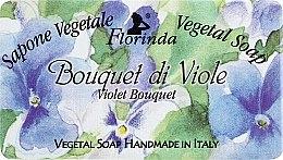 """Парфюми, Парфюмерия, козметика Натурален сапун """"Букет от теменужки"""" - Florinda Sapone Vegetale Vegetal Soap Violet Bouquet"""