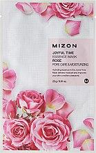Парфюмерия и Козметика Маска от плат с екстракт от роза - Mizon Joyful Time Essence Mask Rose