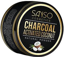 Парфюмерия и Козметика Натурална избелваща пудра за зъби - Sanso Cosmetics Charcoal Activated Coconut Natural Powder