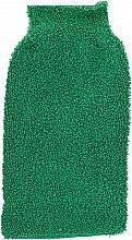 Парфюмерия и Козметика Масажна почистваща ръкавица за баня, зелена - Efas