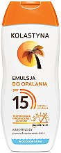 Парфюмерия и Козметика Слънцезащитна емулсия - Kolastyna Emulsion SPF 15