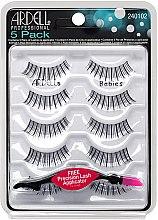 Парфюми, Парфюмерия, козметика Комплект изкуствени мигли - Ardell 5 Pack Babies Black (10бр)