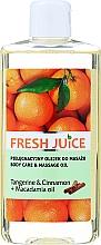 Парфюмерия и Козметика Масажно масло с екстракт от мандарина и канела + масло от макадамия - Fresh Juice Energy Tangerine&Cinnamon+Macadamia Oil