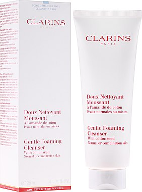 Почистваща пяна - Clarins Gentle Foaming Cleanser with Cottonseed