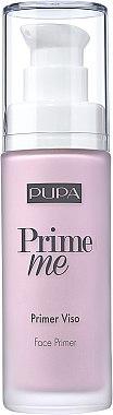 Коригираща основа на жълти оттенъци на кожата - Pupa Prime Me Corrective Face Primer — снимка N1