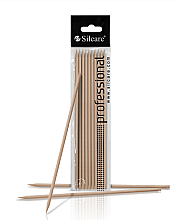 Парфюмерия и Козметика Дървени пръчици за избутване на кожички, 180 мм - Silcare Manicure Sticks
