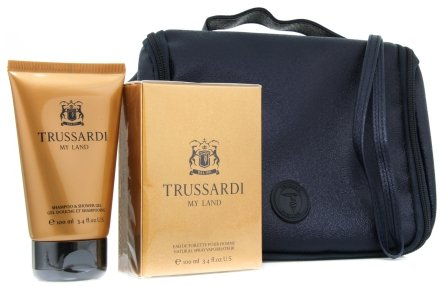 Trussardi My Land - Комплект (edt/100ml + sh/g/100ml + bag) — снимка N2