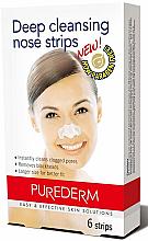 Парфюмерия и Козметика Почистващи лентички за нос - Purederm Deep Cleansing Nose Pore Strips