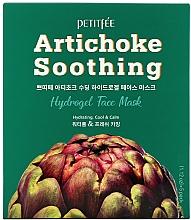 Парфюмерия и Козметика Успокояваща хидрогел маска за лице с екстракт от артишок - Petitfee&Koelf Artichoke Soothing Face Mask