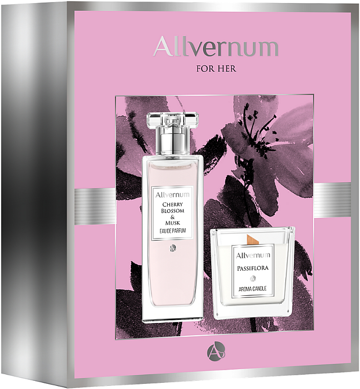 Allvernum Cherry Blossom & Musk - Комплект (парф.вода/50ml + свещ/100g)