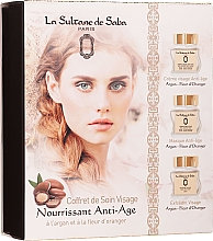 Парфюмерия и Козметика Комплект за лице - La Sultane De Saba Bio Argan & Orange Blossom (крем/50ml + маска/50ml + ексфолиант/50ml)