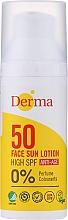 Парфюмерия и Козметика Слънцезащитен лосион за лице против стареене - Derma Sun Face Lotion Anti-Age SPF50
