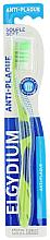 Парфюмерия и Козметика Четка за зъби, мека, зелена - Elgydium Anti-Plaque Soft Toothbrush