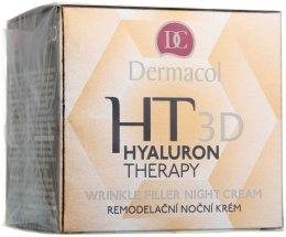 Парфюмерия и Козметика Нощен крем за лице с чиста хиалуронова киселина - Dermacol Hyaluron Therapy 3D Wrinkle Night Filler Cream