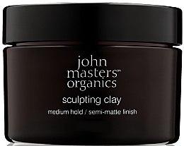Парфюмерия и Козметика Моделираща глина за коса с матиращ ефект - John Masters Organics Sculpting Clay Medium Hold Matte Finish