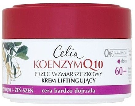 "Регенериращ крем против бръчки ""Женшен"" - Celia Q10 Face Cream 60+"