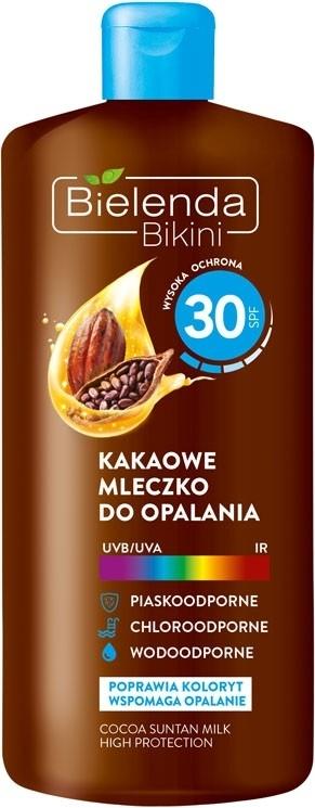 Мляко за тен с какао SPF30 - Bielenda Bikini Cocoa Suntan Milk High Protection