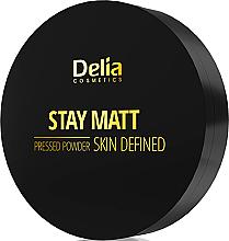 Парфюми, Парфюмерия, козметика Компактна матираща пудра - Delia Stay Matt Skin Defined Pressed Powder