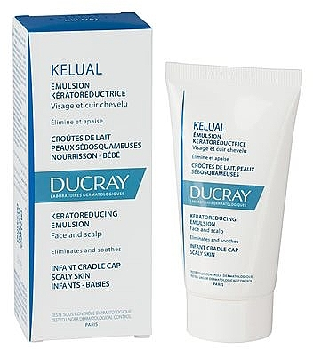 Емулсия за раздразнена и лющеща се кожа - Ducray Kelual Emulsion Face & Scalp — снимка N2