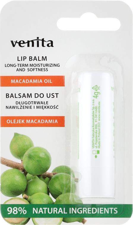 Балсам за устни с масло от макадамия - Venita Lip Balm Macadamia Oil