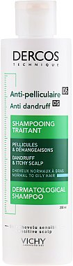 Шампоан против пърхот за нормална и мазна коса - Vichy Dercos Anti-Pelliculaire Anti-Dandruff Shampooing